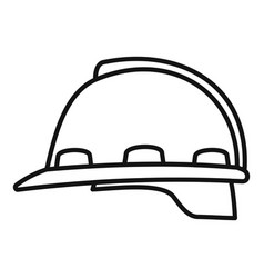architect helmet icon outline style vector image