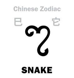 Astrology snake sign chinese zodiac vector