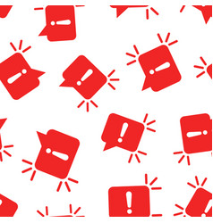Attention sign icon seamless pattern background vector