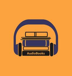 audiobooks logo vector image