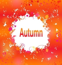 Autumn Grunge Background Abstract Decorative vector image