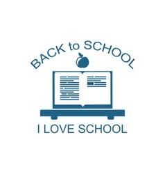 Back to School Logo Flat Icon vector image