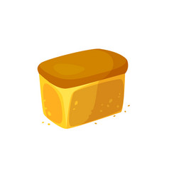 bakery icon fresh wheat bread vector image