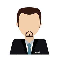 Bearded businessman avatar icon image vector