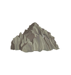 Big rocky mountain natural landscape element for vector