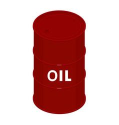 blank oil barrel vector image