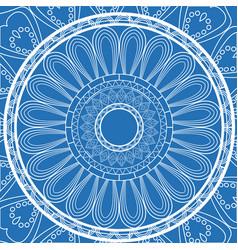 blue decorative mandala circle vintage arabic vector image