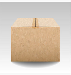 Brown textured closed carton delivery packaging vector