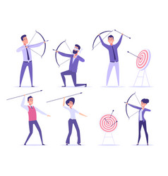 business archer office manager shooting to goal vector image