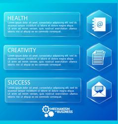 business web glass horizontal banners vector image