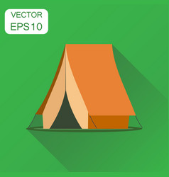 camping tent icon business concept camping house vector image