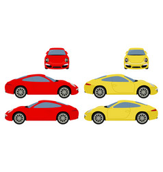 Car template on white background coupe car vector