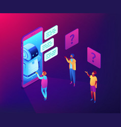 chatbot technology concept isometric vector image