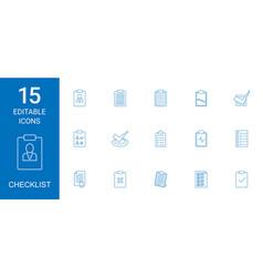 Checklist icons vector