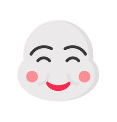 Chinese smile mask chinese new year related flat vector