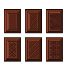 chocolate bar set on white background vector image