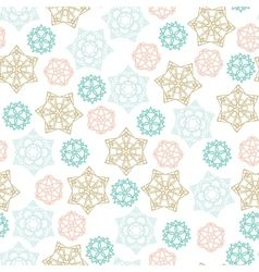 Christmas winter Seamless Pattern with color vector image