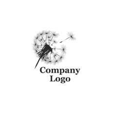 Company logo with dandelion vector
