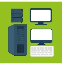 computer equipment supply icons graphic vector image