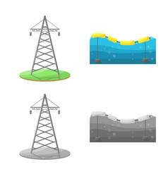 Design source and environment icon vector