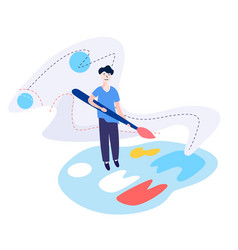 design studio designing drawing graphic design vector image
