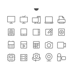 devices ui pixel perfect well-crafted thin vector image