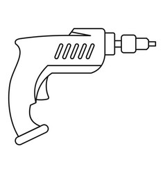 Drill icon outline vector