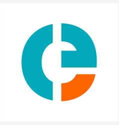E ce cf ceg ceo initials letter company logo and vector