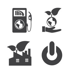 earth and ecology icons set elements vector image