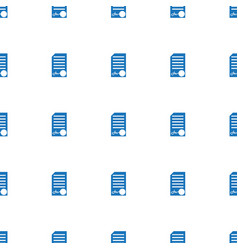 Ed document icon pattern seamless white background vector