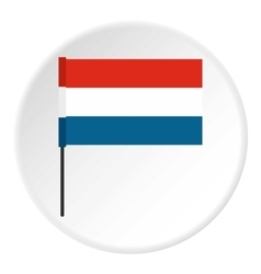 Flag of Netherlands icon flat style vector image