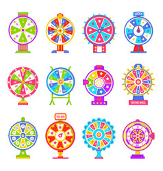 fortune wheel machines for gamblers to play gaming vector image