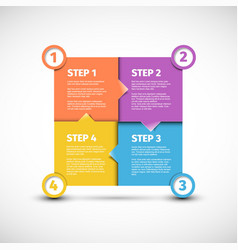 Four steps cycle template vector