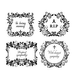 funeral memory condolences obituary death grief vector image