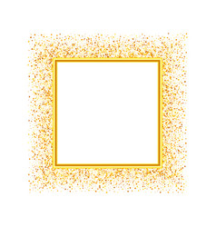 glitter frame template for banner vector image