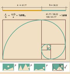 Golden Ratio Golden Proportion vector image