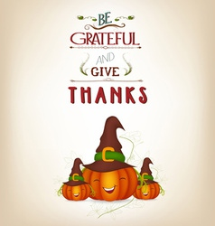 Grateful and thanksgiving greeting card vector
