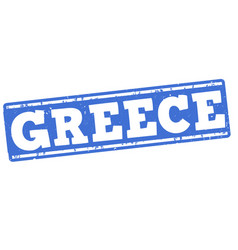 greece grunge stamp vector image