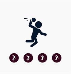 handball player icon simple sportsman element vector image