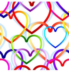 heart seamless background vector image