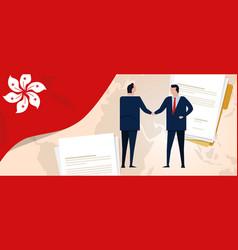 hongkong international partnership bilateral vector image