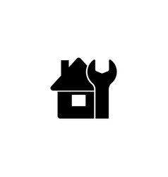 house maintenance construction home flat vector image