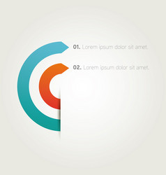 Infographics presentation arrows template vector