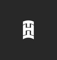 initials hi bold letters logo monogram identity vector image
