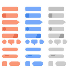 interface menu buttons set collection of blank vector image