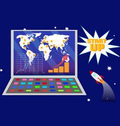 International startup expansion plan vector