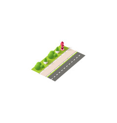 isometric right view fire hydrant vector image