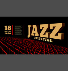 Jazz music festival concert hall 3d vector