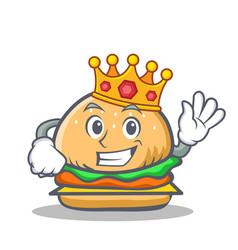 king burger character fast food vector image vector image