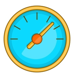 Large round speedometer icon cartoon style vector image